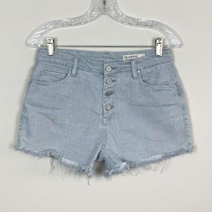 Blank NYC   button fly wedge short grey size 28